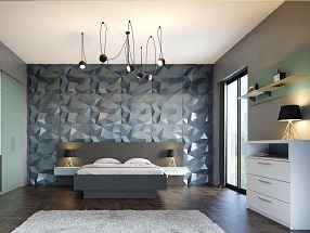 Bedroom in Valore Fjord & Light Grey (smooth)