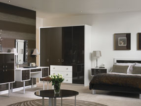 Venice Bedroom in HG Ebony & Satin White