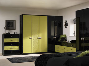 Venice Bedroom in Riven Lime & HG Black