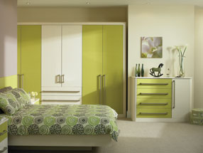 Venice Bedroom in Riven Lime & HG Cream