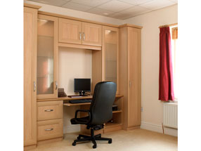 Mitred Type 6 Home Office/Study in Montana Oak
