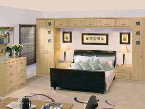 Euroline Bedroom in Natural Oak