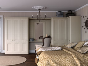 Cambridge Bedroom in Oakgrain Cream