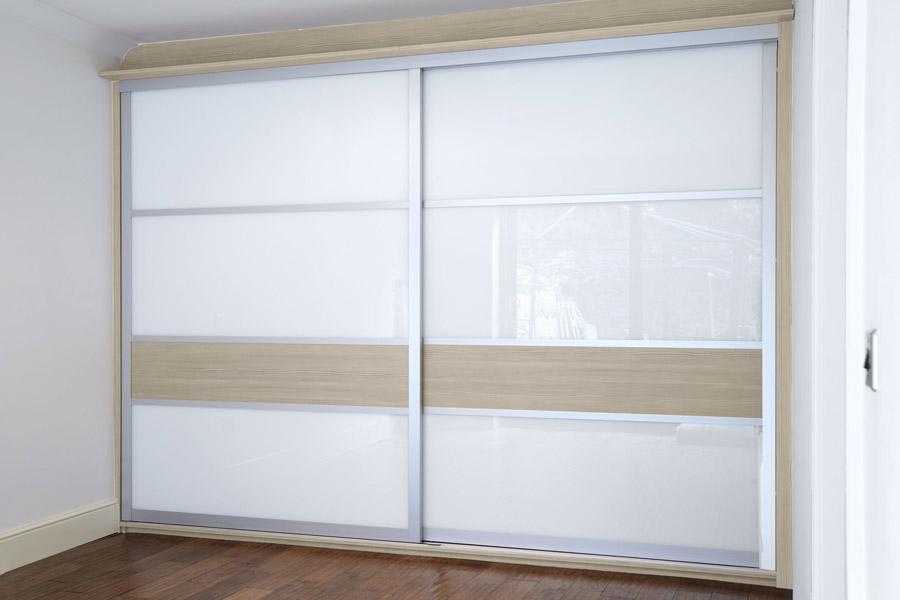 Made to measure sliding wardrobe doors diy homefit ltd bright white glass champagne avola planetlyrics Images