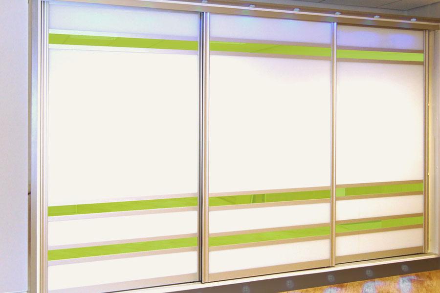 Made to measure sliding wardrobe doors diy homefit ltd bright white lime zest glass sliding doors planetlyrics Gallery