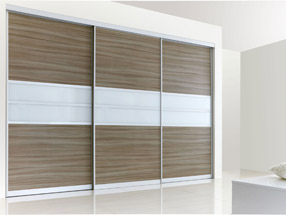 Driftwood & White Glass Sliding Doors