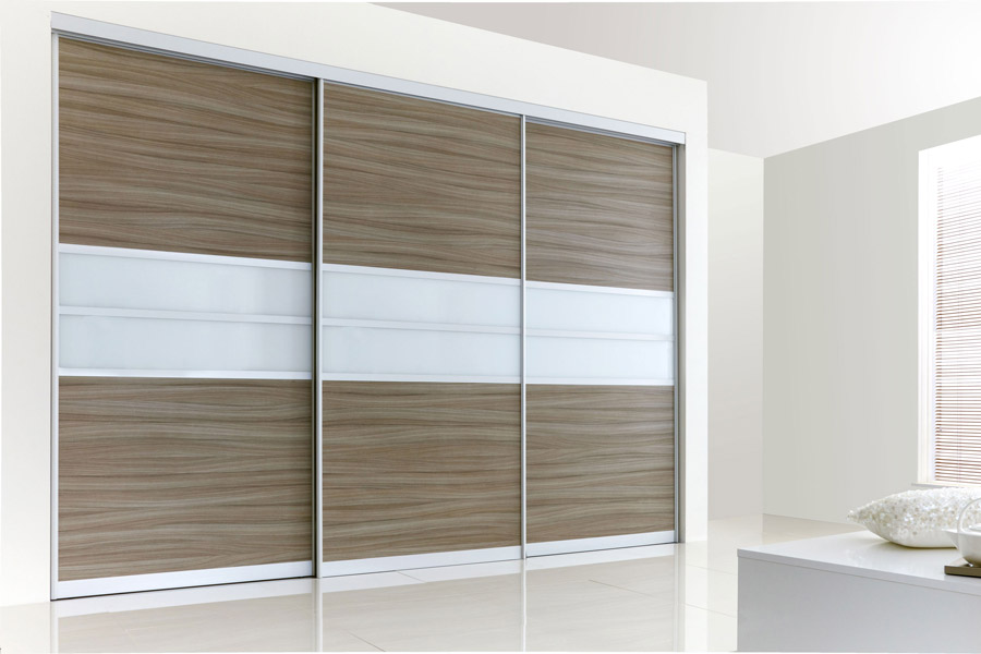 Driftwood U0026 White Glass Sliding Doors