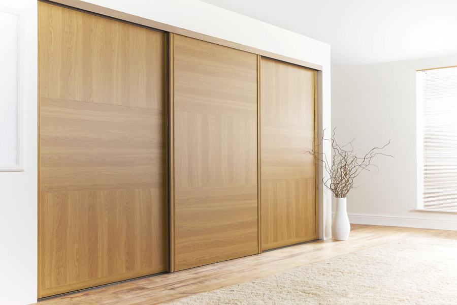 Made to measure sliding wardrobe doors diy homefit ltd for Wooden sliding doors