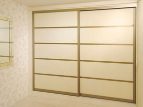Pearl White Glass Sliding Doors