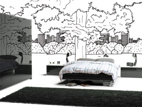 Acrylic Ultragloss Bedroom in Acrylic Black