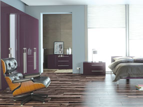 Acrylic Ultragloss Bedroom in Acrylic Plum