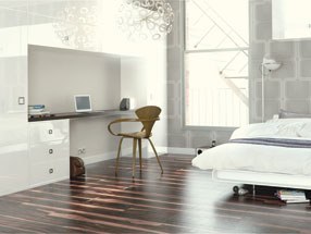 Acrylic Ultragloss Bedroom in Acrylic White