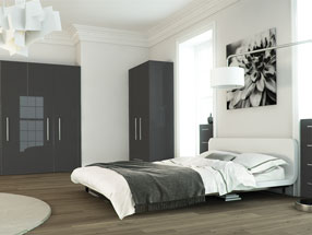 Acrylic Ultragloss Bedroom in Metallic Anthracite