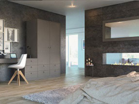 Acrylic Ultramatt Bedroom in Metallic Basalt