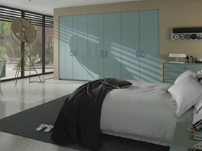Acrylic Ultragloss Bedroom in Metallic Blue