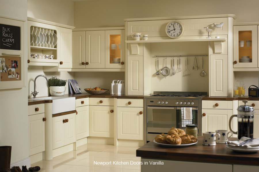 Newport replacement kitchen cupboard door custom made for Fitted kitchen cupboards