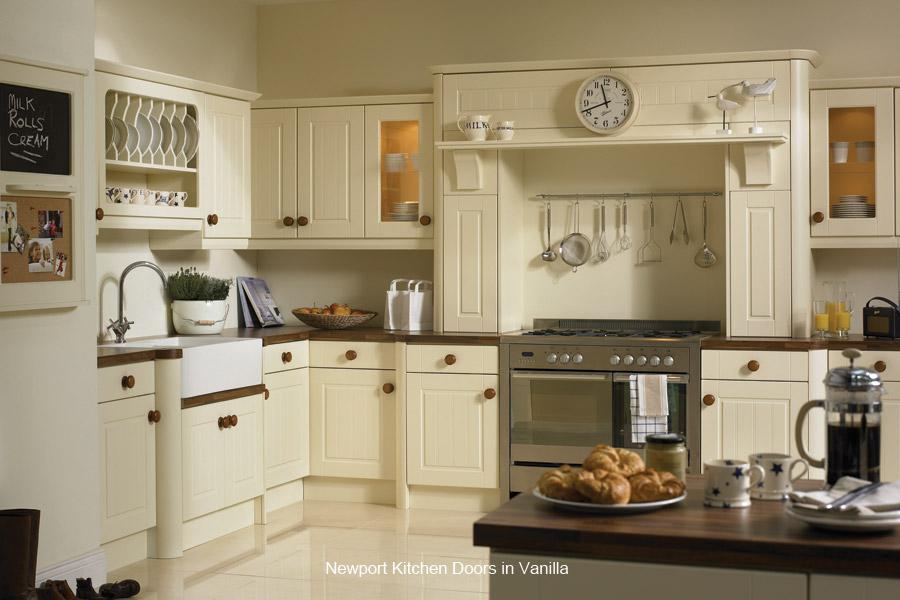 Newport replacement kitchen cupboard door custom made for Wickes kitchen carcass