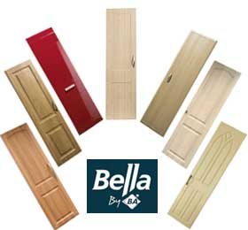 bella logo with bedroom door pictures