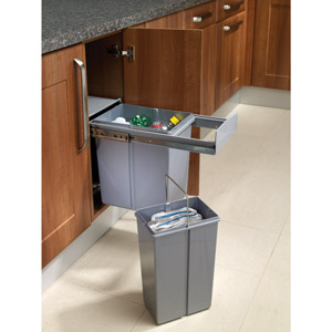 Pull out waste bin for 300mm unit custom made kitchens for 300mm deep kitchen units