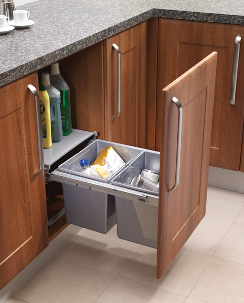 Pull Out Waste Bin For 450mm Unit Custom Made Kitchens