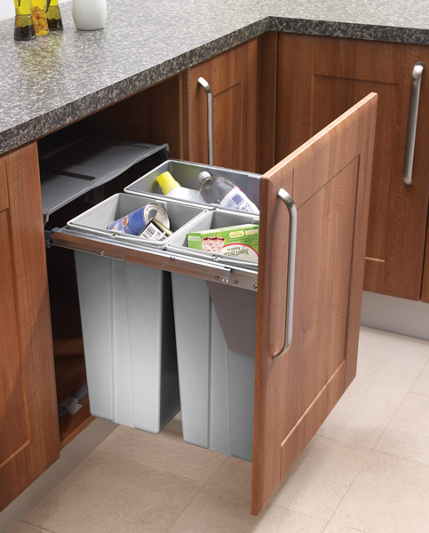 Pull Out Waste Bin For 600mm Unit Custom Made Kitchens
