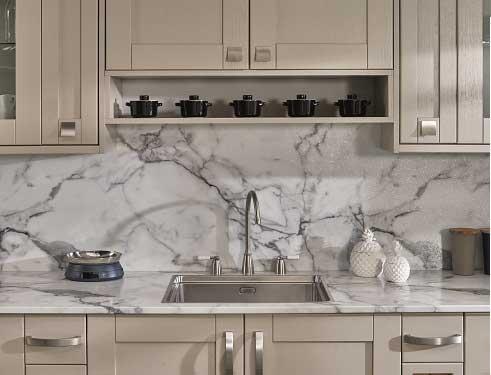 Calacatta Marble Radiance Prima Formica Laminated Worktop
