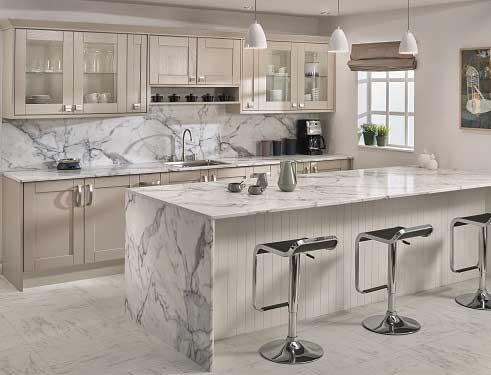 Calacatta Marble Prima Formica Laminated Worktop