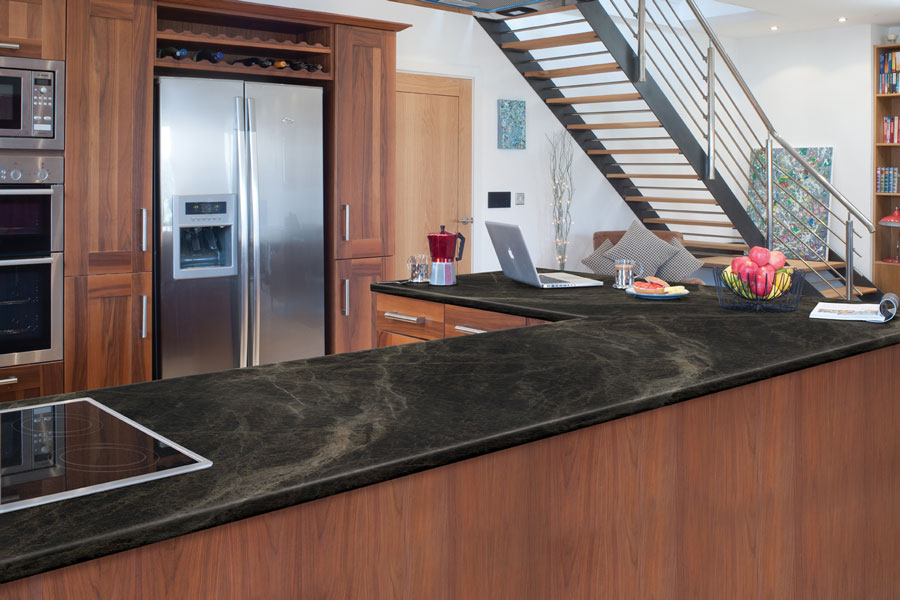 Scovato Black Sequoia Axiom Formica Laminated Worktop