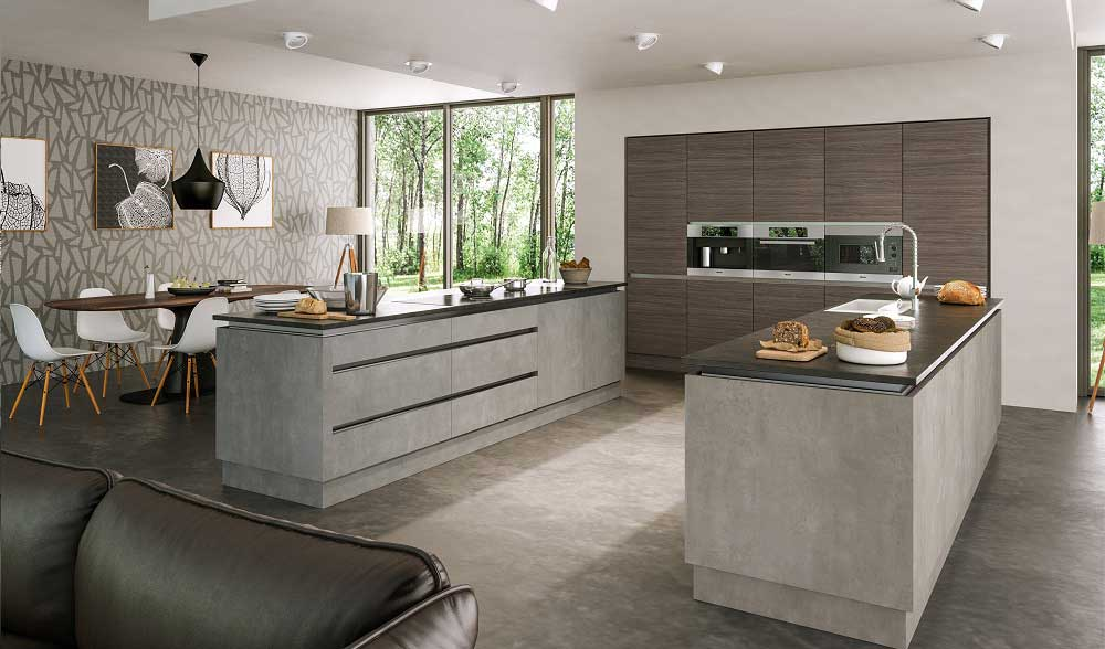 Valore Light Concrete Kitchen Door Custom Made Kitchens