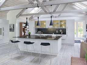 Venice Kitchen in Opengrain White