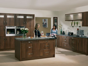Roma Kitchen in Dark Walnut