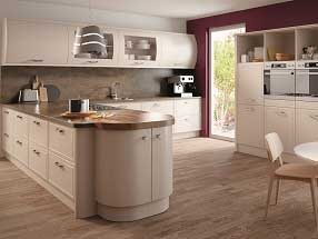 Euroline Kitchen in Matt Cashmere