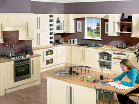 Shaker Kitchen in Ivory