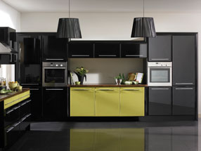 Venice Kitchen in Riven Lime & HG Black