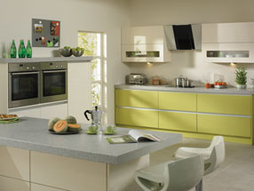 Venice Kitchen in Riven Lime & HG Cream