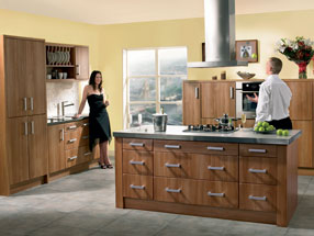 Rimini Kitchen in Light Walnut