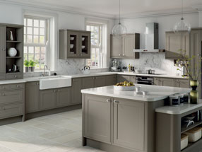 Tullymore Kitchen in Matt Stone Grey