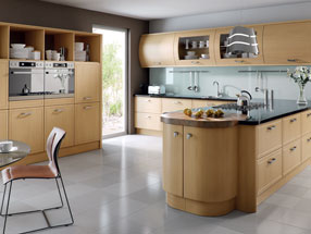 Euroline Kitchen in Natural Oak