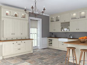 Warwick Kitchen in Oakgrain Mussel