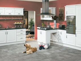 York Kitchen in Satin White