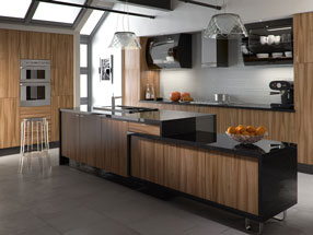 Pisa Kitchen in Tiepolo Light Walnut
