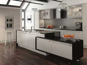 Venice Kitchen in Matt Dove Grey with inset handles