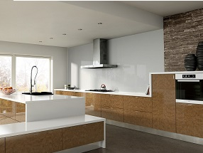 Acrylic Ultragloss Kitchen in Acrylic Copperleaf