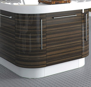 Curved plinth for kitchen units custom made kitchens and for Kitchen units without plinths