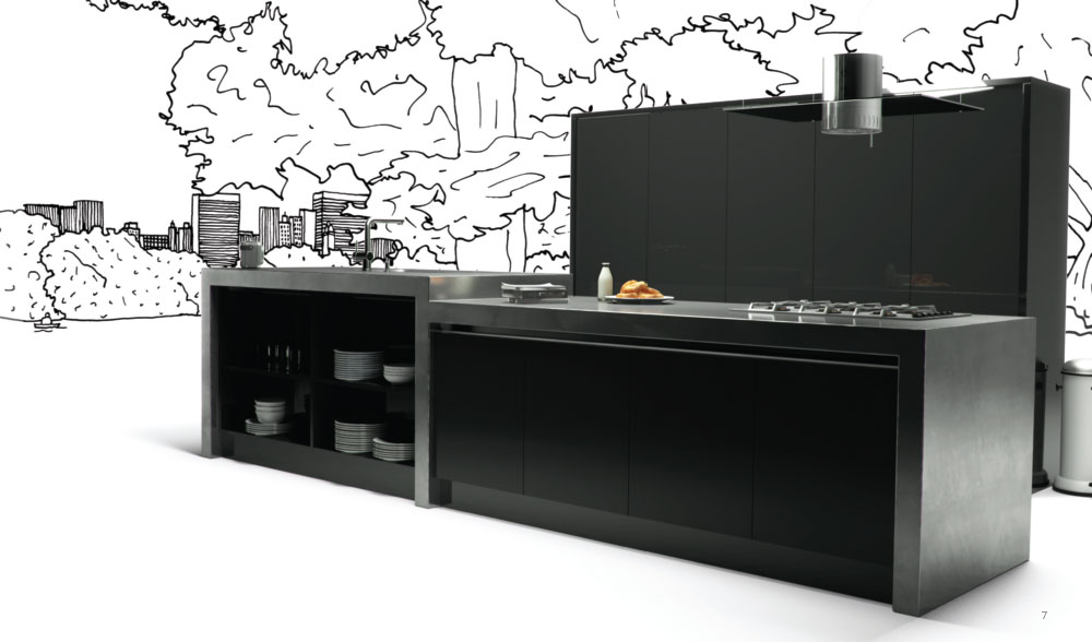 Acrylic ultragloss black kitchen door custom made kitchens for Black kitchen carcasses