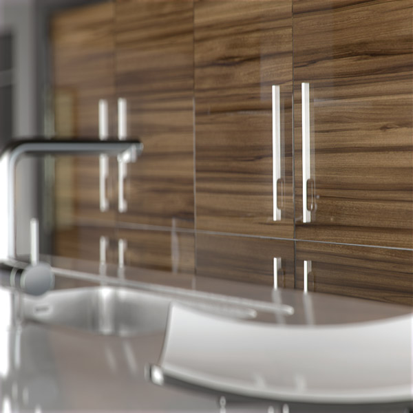 Kitchen Cabinet Replacement Doors And Drawer Fronts: Acrylic Ultragloss Noce Marino